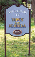 Welcome to Town of Florida Sign
